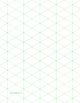 Isometric Graph Paper with 1-inch figures on letter-sized paper Paper