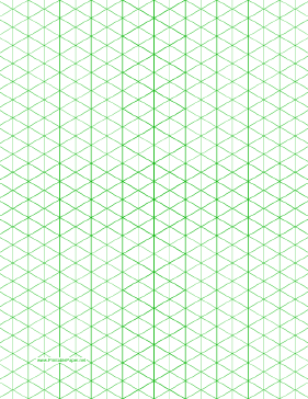 Isometric Graph Paper with 1/2-inch figures (triangles only) on letter-sized paper Paper