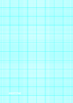 Graph Paper with ten lines per inch and heavy index lines on A4-sized paper Paper
