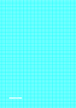 Graph Paper with one line per millimeter and centimeter index lines on A4 paper Paper