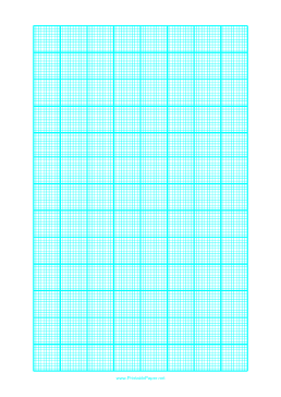 Graph Paper with one line every 2 mm and heavy index lines every tenth line on letter-sized paper Paper