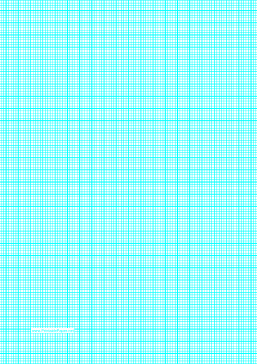 Graph Paper with lines every 2mm (5 lines/cm) and heavy index lines on A4-sized paper Paper