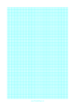 Graph Paper with one line every 2 mm on letter-sized paper Paper