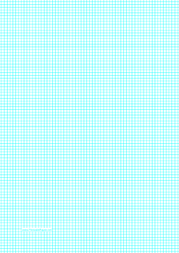 Graph Paper with lines every 3.33mm (3 lines/cm) on A4-sized paper Paper