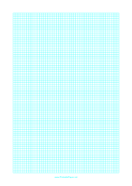 Graph Paper with one line every 3 mm on letter-sized paper Paper