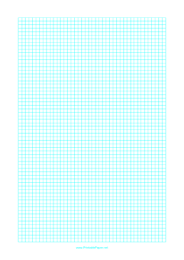 Graph Paper with one line every 4 mm on letter-sized paper Paper