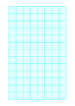 Graph Paper with one line every 5 mm and heavy index lines every fourth line on letter-sized paper Paper