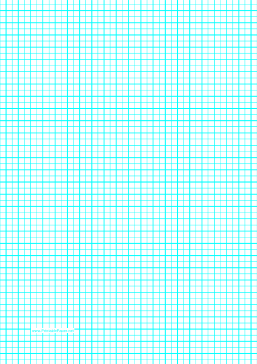 Graph Paper with one line per 5 millimeters and centimeter index lines on A4 paper Paper