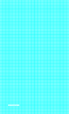 Graph Paper with one line per millimeter and centimeter index lines on legal-sized paper Paper