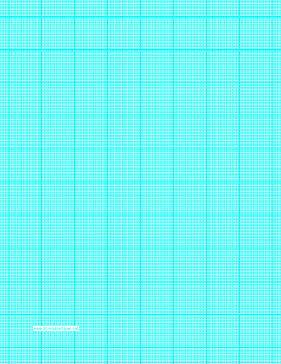 Graph Paper with twenty two lines per inch and heavy index lines on letter-sized paper Paper