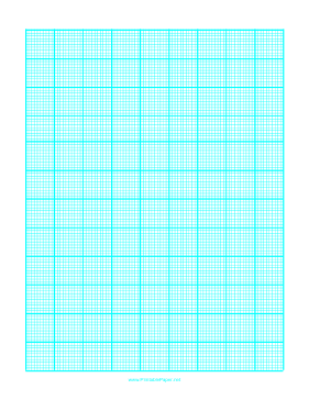 Graph Paper with one line every 2 mm and heavy index lines every tenth line on A4 paper Paper