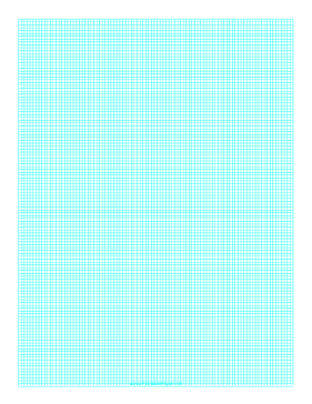 Graph Paper with one line every 2 mm on A4 paper Paper