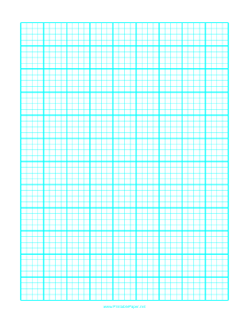 Graph Paper with one line every 5 mm and heavy index lines every fourth line on A4 paper Paper