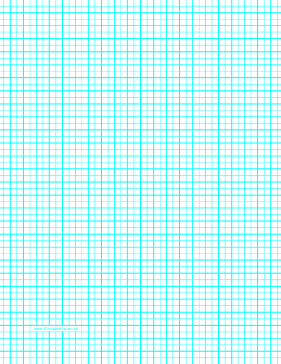 Graph Paper with one line per 5 millimeters and centimeter index lines on letter-sized paper Paper