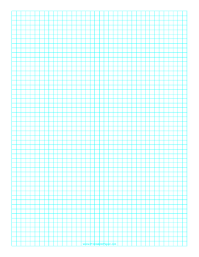 Graph Paper with one line every 5 mm on A4 paper Paper