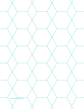 Hexagon and Diamond Graph Paper with 1-inch spacing on letter-sized paper Paper