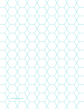 Hexagon and Diamond Graph Paper with 1/2-inch spacing on letter-sized paper Paper