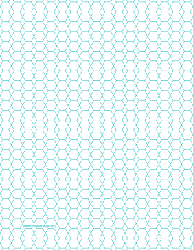 Hexagon and Diamond Graph Paper with 1/4-inch spacing on letter-sized paper Paper