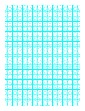 Isometric-Orthographic Grid Paper Paper
