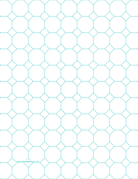 Octagon Graph Paper with 1-inch spacing on letter-sized paper Paper