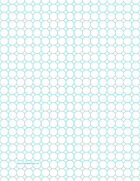 Octagon Graph Paper with 1/2-inch spacing on letter-sized paper Paper