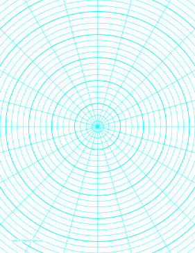 Polar Graph Paper with 15 degree angles and 1/4-inch radials on letter-sized paper Paper