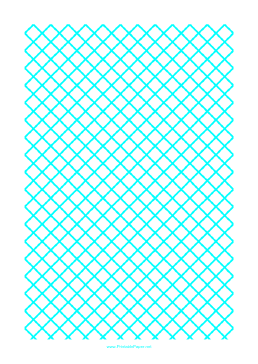 Graph Paper for Quilting with 1 Line per cm ruled diagonally Paper