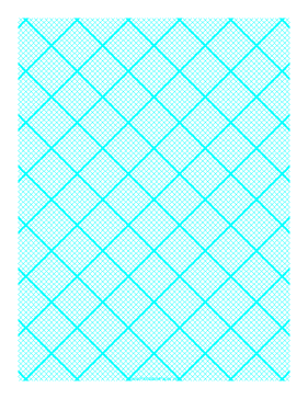 Graph Paper for Quilting with 10 Lines per inch and heavy index lines Paper