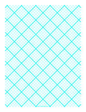 Graph Paper for Quilting with 5 Lines per inch and heavy index lines Paper