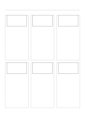 Storyboard with 3x2 grid of 16:9 (widescreen) screens on A4 paper Paper