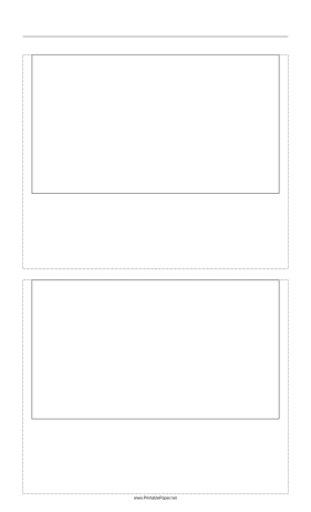 Storyboard with 1x2 grid of 16:9 (widescreen) screens on legal paper Paper