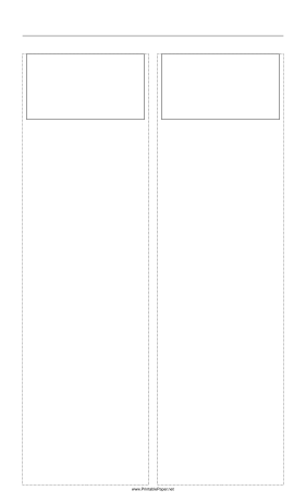Storyboard with 2x1 grid of 16:9 (widescreen) screens on legal paper Paper