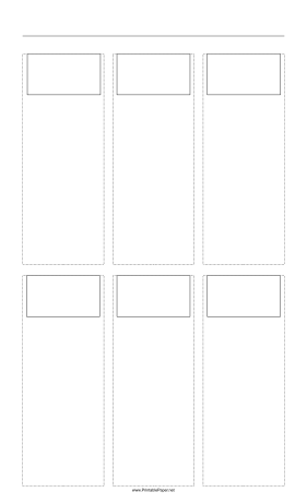 Storyboard with 3x2 grid of 16:9 (widescreen) screens on legal paper Paper