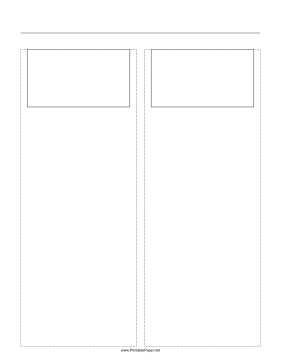 Storyboard with 2x1 grid of 16:9 (widescreen) screens on letter paper Paper