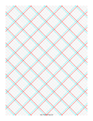 3D Paper - 5x5 Grid with Large Offset paper