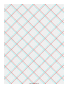3D Paper - 10x10 Grid with Large Offset paper