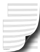 3 Systems of 3 Staves Music Paper paper