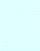 Diagonals Right With Third-Inch Grid paper