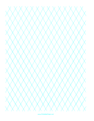 Diamond Graph Paper 1 Inch paper