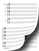 SATB with Piano Music Paper paper