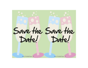 Save the Date Postcard paper