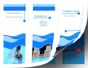 Swimming Pool Brochure-Trifold paper