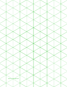 Isometric Graph Paper with 1-inch figures (triangles only) on letter-sized paper paper