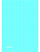 Graph Paper with lines every 1.25mm (8 lines/cm) and heavy index lines on A4-sized paper paper