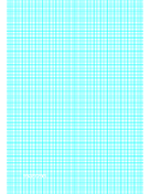 Graph Paper with lines every 2.5mm (4 lines/cm) and heavy index lines on A4-sized paper paper