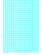 Graph Paper with one line every 2 mm and heavy index lines every fifth line on letter-sized paper paper