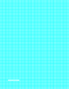 Graph Paper with one line per millimeter and centimeter index lines on letter-sized paper paper