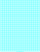 Graph Paper with one line every 2 mm and heavy index lines every fifth line on A4 paper paper
