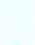 Hexagon Graph Paper with half-cm spacing on letter-sized paper paper