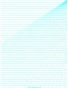 Perspective Paper - Right with Horizontal Lines paper